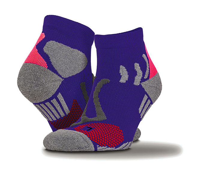 Technical Compression Sports Socks S/M Purple