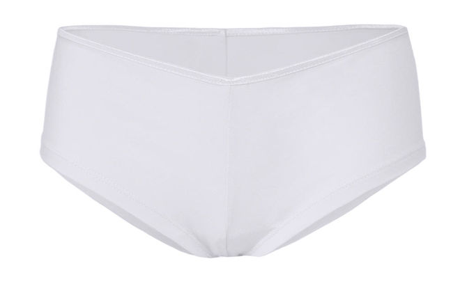 Cotton Stretch Shortie L White
