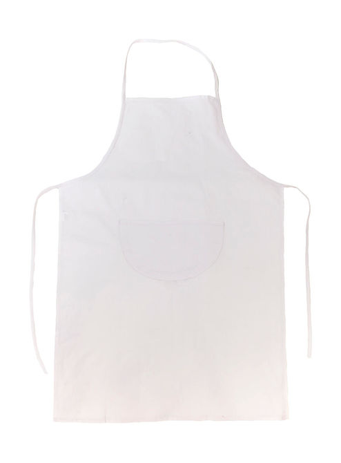 Budapest Festival Apron with Pocket One Size White