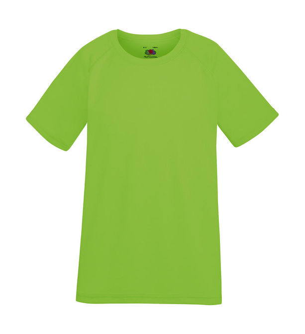 Kids Performance T 152 (12-13) Lime Green