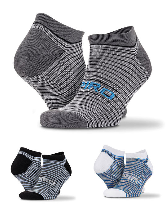 3-Pack Mixed Stripe Sneaker Socks
