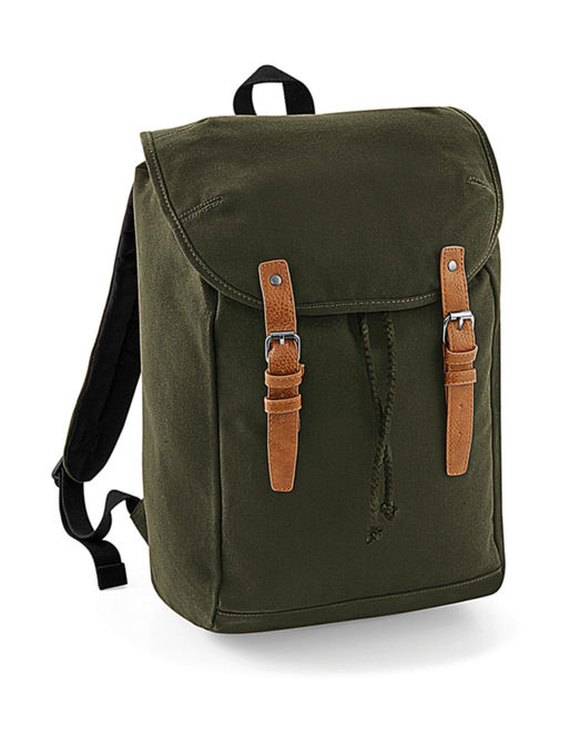 Vintage Rucksack One Size Military Green