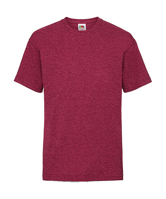 Kids Valueweight T 140 (9-11) Vintage Heather Red